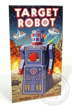 Buy Target Robot Tin Sign Gang of 5 at TinToyArcade.com