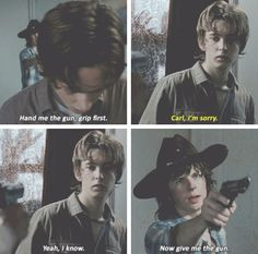 Carl and Ron. The Walking Dead Season 6 Episode 8