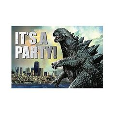 His Godzilla Birthday Invitations Zack S 5th Birthday Godzilla