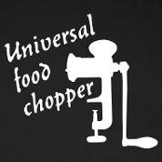 Universal food chopper. Motifs pour tabliers de cuisine personnalisés. Design classique par MasterChef-FR disponible sur www.tabliers-de-cuisine.fr.