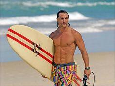 Matthew McConnaughey--Suave Surfer