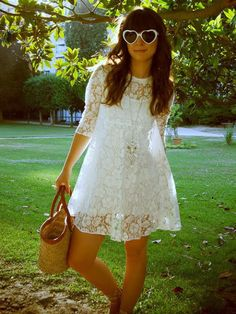 GabiFagundes.com: Vestido de Renda Branco