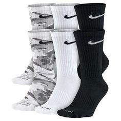 ab15409b875e Men s Nike 6-pack Dri-FIT Performance Crew Socks- Colors  White Black