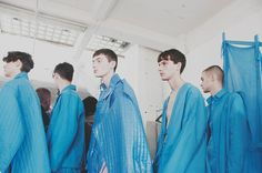 Backstage at Craig Green SS15