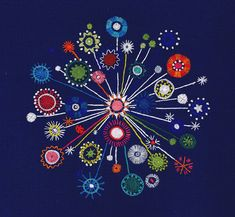 "Broderi/Embroidery ""Fyrverkeri"" design Ingrid Dessau, 1955"