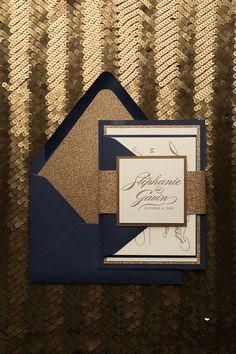 Fancy Glitter Wedding Invitations DIANE Suite Fancy Glitter Package, fancy black…