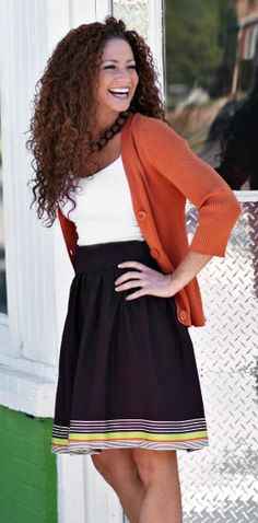 A Line skirt tutorial. but i'm pinning her for the long gorgeous curls.