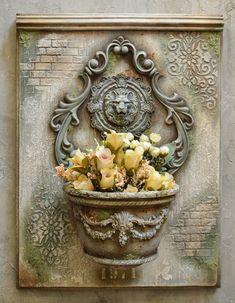 Tatyana Nazarenko's photos - Gartenkunst Decoupage Box, Decoupage Vintage, Shabby Vintage, Vintage Decor, Decoration, Art Decor, Space Drawings, Iron Orchid Designs, Sculpture Painting
