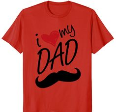 12.99$ I LOVE MY DAD T-Shirt Cute Fathersday Gift #tshirt #shirt #tee #fathersday #fathersdaygiftidea #dadlove #amazon #amazonprime #gift #giftidea #lovedaddy #daddy Mothers Day T Shirts, Fathers Day, I Love My Dad, Daddy, Amazon, Gift, Mens Tops, Riding Habit, Father's Day