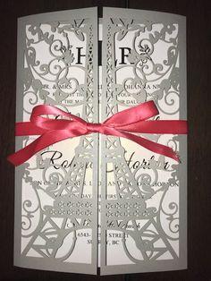 Paris Theme Invitation-Perfect for Wedding or Quinceañera!