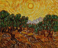 all of vincent van gogh paintings | Van Gogh Painting Olive Trees With Yellow Sky And Sun » Van-Gogh ...