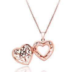Rose Gold Plated Heart Locket Pendant ($115) ❤ liked on Polyvore featuring jewelry, pendants, accessories, necklaces, charm pendant, rose gold plated pendant, vintage style jewelry, pendant locket and rose jewelry