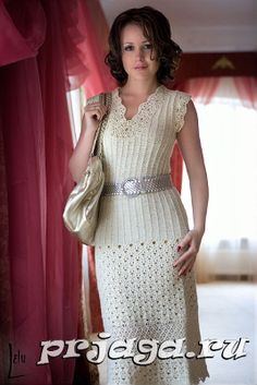 Vestido de crochê e tricô 1 / Платье крючком и спицами 1 / Dress crochet and knitting 1