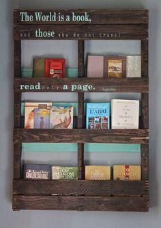 pallet bookshelf | Pallet Bookshelf Stores The Mess Inside | 101 Pallets