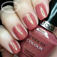 swatcher, polish-ranger   Cuccio Colour Blush Hour swatch