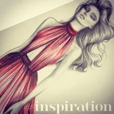 Elie Saab inspired | Cristiana Martins | Fashion Illustration | Sketch | Brazilian designer