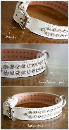 Swarovski crystal dog collar - LOVE!