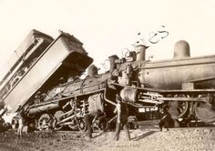 History inspiration: old train wreck