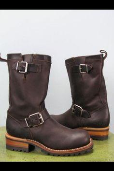 Vintage engineer boots.
