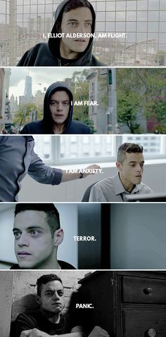 Mr. Robot: I, Elliot Alderson, am flight. I am fear. I am anxiety, terror, panic.