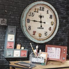 Vintage multicoloured clock