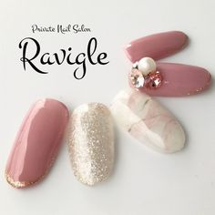 ...|ネイルデザインを探すならネイル数No.1のネイルブック Bride Nails, Wedding Nails, Nail Polish Designs, Nail Art Designs, Korea Nail, Nail Charms, Glamour Nails, Nail Candy, Dream Nails