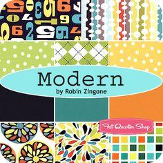 Modern Fat Quarter Bundle Robin Zingone for Robert Kaufman Fabrics - Fat Quarter Shop