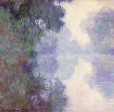 The Seine at Giverny, Morning Mists, c. 1897. In 1896 and 1897, Monet rose at 3:30 in the morning in his village of Giverny to work on a project of capturing early morning light as it appeared through the fog.
