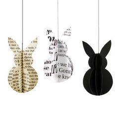 Easter bunny hanger van papier