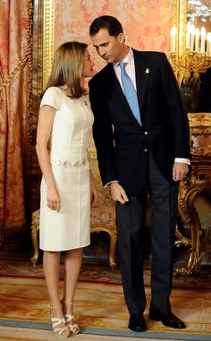 Princess Letizia - Spanish Royals Meet Olympic Committee Evaluation Commission