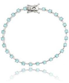 comprar pulseira riviera turmalina candy com banho de rodio e zirconias cristais semi joias modernas