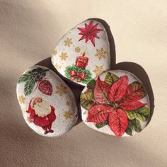 Christmas Gift Decoration Painted rock by CreateAndCherish
