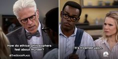 The Good Place on Twitter: Really makes you think.