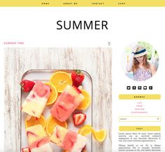 Responsive Blogger Theme - Summer by PinkPot Designs  Summer is...