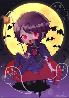 Chibi Boy, Cute Anime Chibi, Kawaii Chibi, Cute Anime Boy, Kawaii Anime, Anime Guys, Tracing Art, Fox Eyes, Anime Halloween