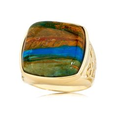 Terra Opalis Landscape Opal Ring 9ct GoldDiscover a world of Opal with Jurgen Schutz. Growing up in Idar-Oberstein, to a family wih a long history of gem cutting, he now spends most of his time in the Opal fields of Australia, Mexico and other exotic destinations.  #terraopalis #opal #jewelry from the #expert #jurgenschutz #schütz #jewellerey