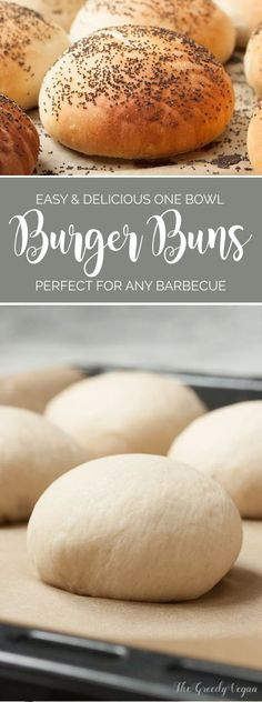 There is just something extremely comforting about biting into a delicious soft vegan burger bun. These only need one bowl and a handful of ingredients.