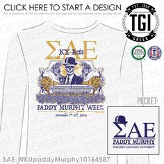 Or open a free online store. Fraternity Shirts, Sorority And Fraternity, Sorority Shirts, Tee Shirts, Custom Hats, Custom Clothes, Paddy Murphy, Theta Crafts, Sigma Alpha Epsilon