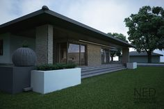 projekt bungalov SIM - NED ATELIER Garage Doors, Awesome, Outdoor Decor, House, Home Decor, Houses, Atelier, Home, Catalog
