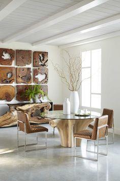 Teak Dining Table Base #origins #teak #wood #dining #PhillipsCo