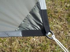 Different tarp tie out