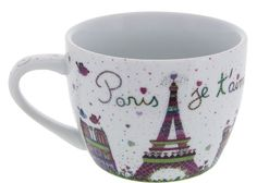 Disney Parks Epcot France Paris Je T ' Aime Tower Eiffel Cappuccino Mug New