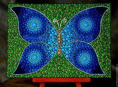 Купить или заказать Картина Бабочка в интернет-магазине на Ярмарке Мастеров. Яркая тропическая бабочка украсит любой интерьер и принесет радость. Сделано с любовью. Символ возрождения и обновления. Эта работа станет прекрасным подарком для родных и близких.