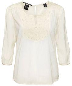 White Swan! Maison Scotch Blouse #fashion #engelhorn #white
