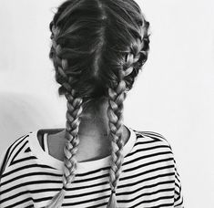 french braid bunches