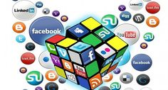 Social Media kubus of the main networks - image