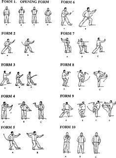 T'ai Chi Forms 1-10 (Illustrations & Directions).