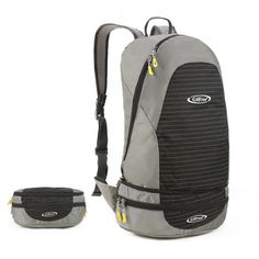G4Free 2-Way Foldable & Portable Daypack Lightweight Backpack Waist Pack for Yoga Sports Hiking Cycling Camping(Black-Grey). MATERIAL - The backpack is made of highly ripstop, tear and water resistant nylon fabric, providing strengthen and long-lasting performance with minimal weight with durable 2-way abrasion resistant SBS Metal Zipper. FOLDABLE - Folded into a waist pack, convenient to carry. Unfolded from WAIST PACK to BACKPACK. It is a must-have bag on every trip, outdoor activeties...