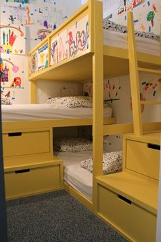 """Check out our internet site for additional info on """"bunk beds for kids room"""". It is an exceptional spot to find out more. Bunk Beds Small Room, Modern Bunk Beds, Bunk Beds With Stairs, Kids Bunk Beds, Small Rooms, Cool Kids Bedrooms, Girls Bedroom, Tiny Bedrooms, Triple Bunk Beds"""