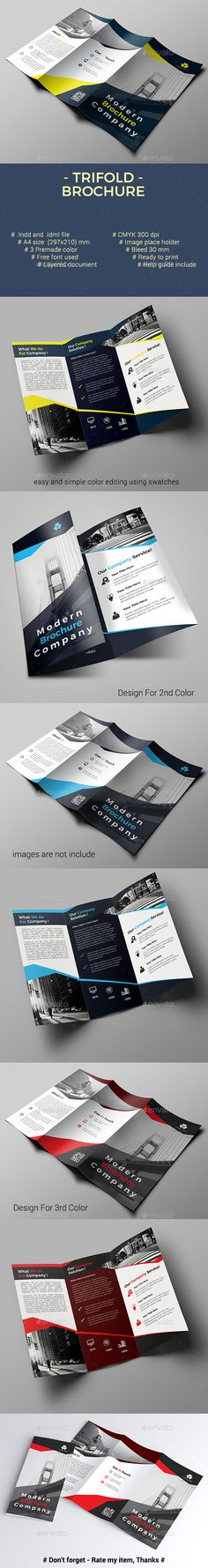 #Trifold Brochure - Corporate #Brochures Download here: https://graphicriver.net/item/trifold-brochure/20422695?ref=alena994